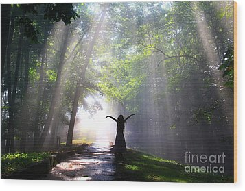 Dancing In God's Light Copyright Willadawn Photography Wood Print by Melissa Petrey