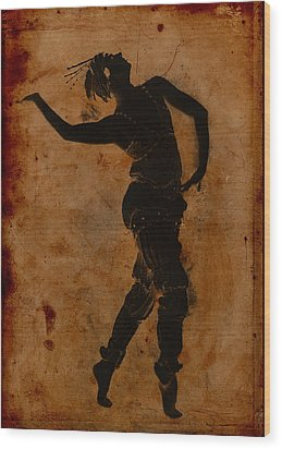 Dancing In Greek Wood Print by Sarah Vernon