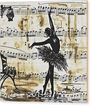 Dancing In The Rain Wood Print