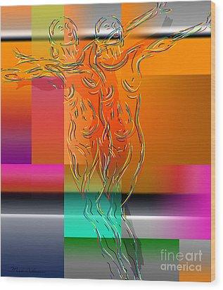 Dancing In The Rain Wood Print by Mark Ashkenazi