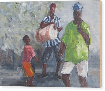 Dancing In The Street Eleuthera Wood Print by Susan Richardson