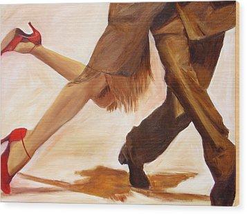 Wood Print featuring the painting Dancing Legs IIi by Sheri  Chakamian