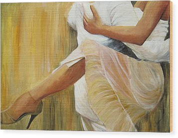 Wood Print featuring the painting Dancing Legs by Sheri  Chakamian