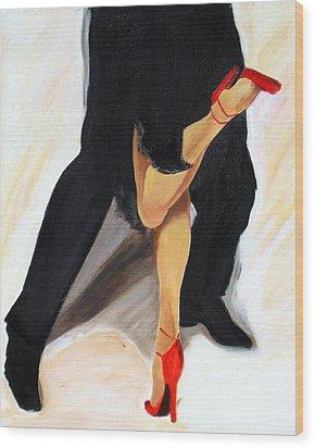Wood Print featuring the painting Dancing Legs II by Sheri  Chakamian