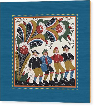 Dancing Men I Wood Print by Leif Sodergren