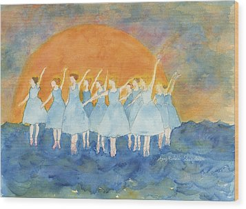 Dancing On Top Of The Sea Wood Print