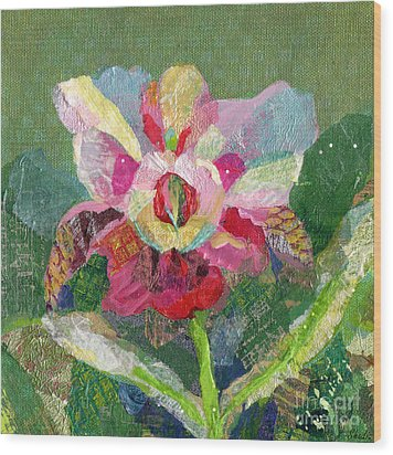 Dancing Orchid II Wood Print by Shadia Derbyshire