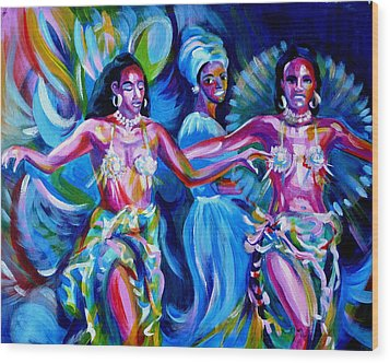 Dancing Panama Wood Print by Anna  Duyunova