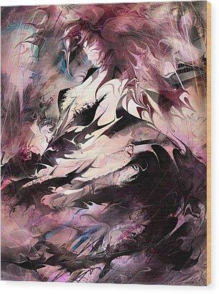 Dancing The Black Dress Wood Print by Rachel Christine Nowicki