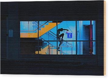 Dancing To Floor G Night People Wood Print by Bob Orsillo