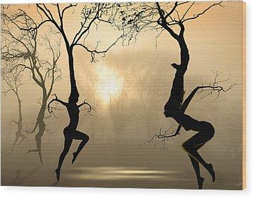 Dancing Trees Wood Print by Igor Zenin
