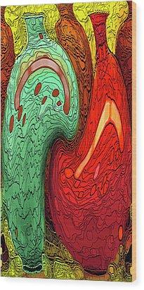 Dancing Vases Wood Print by Ben and Raisa Gertsberg