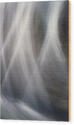 Wood Print featuring the photograph Dancing Water by Kathy Bassett