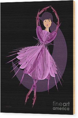 Dancing With The Moon A Wood Print by Andee Design
