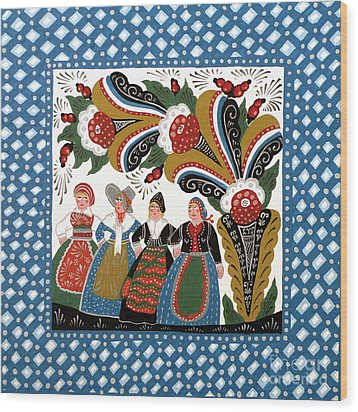 Dancing Women Wood Print by Leif Sodergren