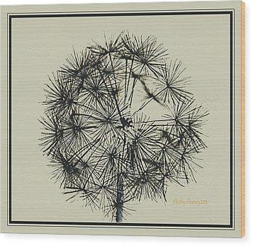 Dandelion 6 Wood Print by Kathy Barney