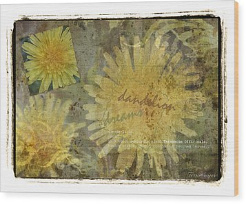 Dandelion Dreams Wood Print