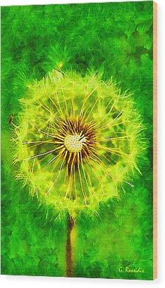Dandelion Wood Print by George Rossidis