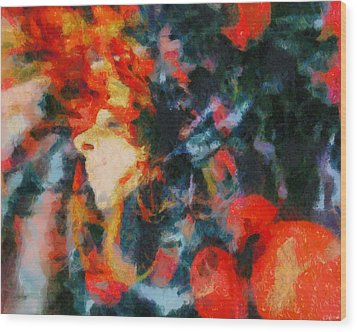 Wood Print featuring the painting Dangerous Passion by Joe Misrasi
