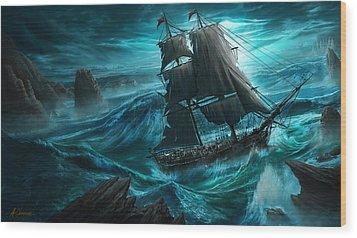Dangerous Seas Wood Print by Anthony Christou