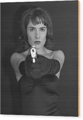 Dangerous Woman 3 Wood Print by Jim Poulos