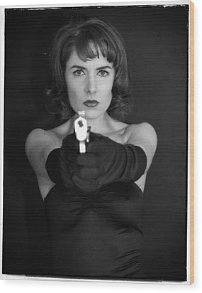 Wood Print featuring the photograph Dangerous Woman I by Jim Poulos