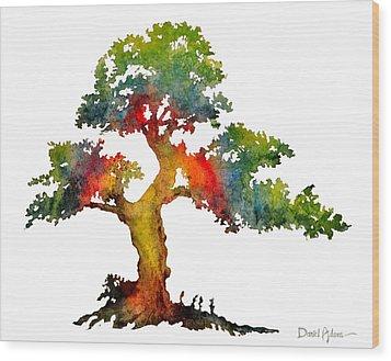 Da140 Rainbow Tree Daniel Adams Wood Print