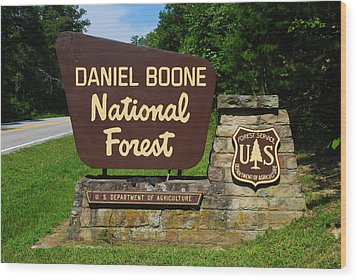Daniel Boone Wood Print by Frozen in Time Fine Art Photography