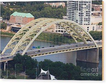 Daniel Carter Beard Bridge Cincinnati Ohio Wood Print by Paul Velgos