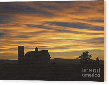 Wood Print featuring the photograph Daniel's Sunset by Kristal Kraft