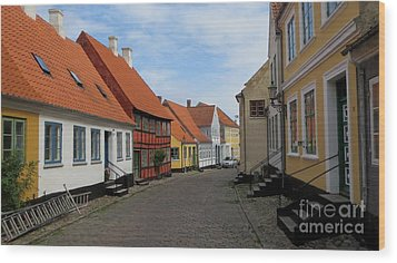 Danish Village Wood Print by Susanne Baumann