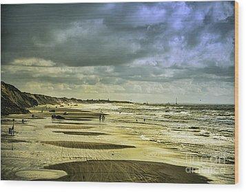 Danish West Coast Beach Wood Print