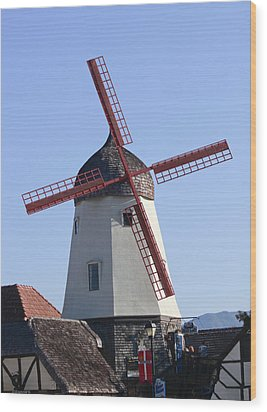 Danish Windmill Wood Print by Ivete Basso Photography