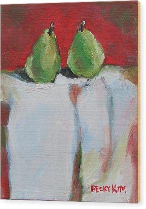 Danjour Pears  Wood Print