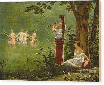 Dans La Prairie 1890 Wood Print by Padre Art