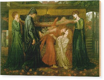 Dantes Dream At The Time Of The Death Of Beatrice 1856 Wood Print by Philip Ralley