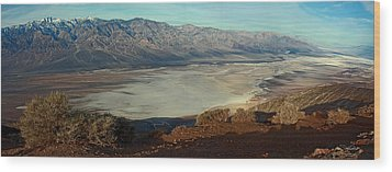 Dante's View Panorama Wood Print by David Salter