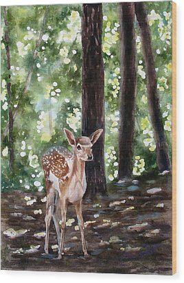 Dappled Innocence Wood Print by Mary McCullah
