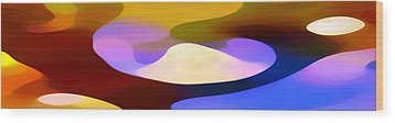 Dappled Light Panoramic 4 Wood Print by Amy Vangsgard