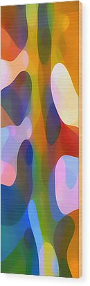Dappled Light Panoramic Vertical 2 Wood Print by Amy Vangsgard