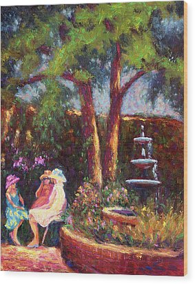 Dar Richards House Garden Party Wood Print