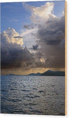Dark And Stormy Wood Print by    Michael Glenn
