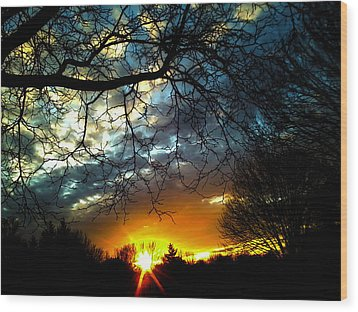 Dark Beauty Sunset Wood Print by James Hammen
