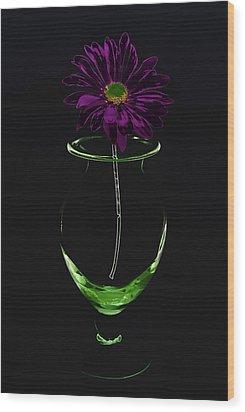 Dark Bloom Wood Print by Swank Photography