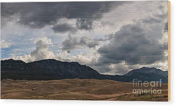 Wood Print featuring the photograph Dark Clouds On The Horizon by Charles Kozierok