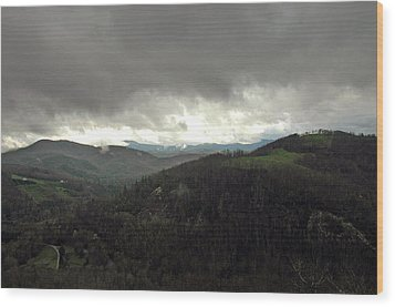 Dark Clouds Over Cashiers Wood Print by Allen Carroll