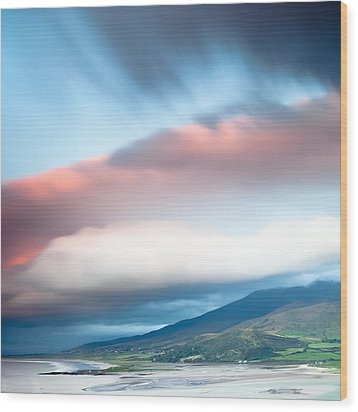 dark clouds over Irish coast Dingle peninsula Wood Print by Dirk Ercken