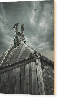 Wood Print featuring the photograph Dark Days by Amy Weiss