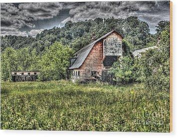 Dark Days For The Farm Wood Print by Dan Stone