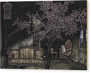 Dark Dream Wood Print
